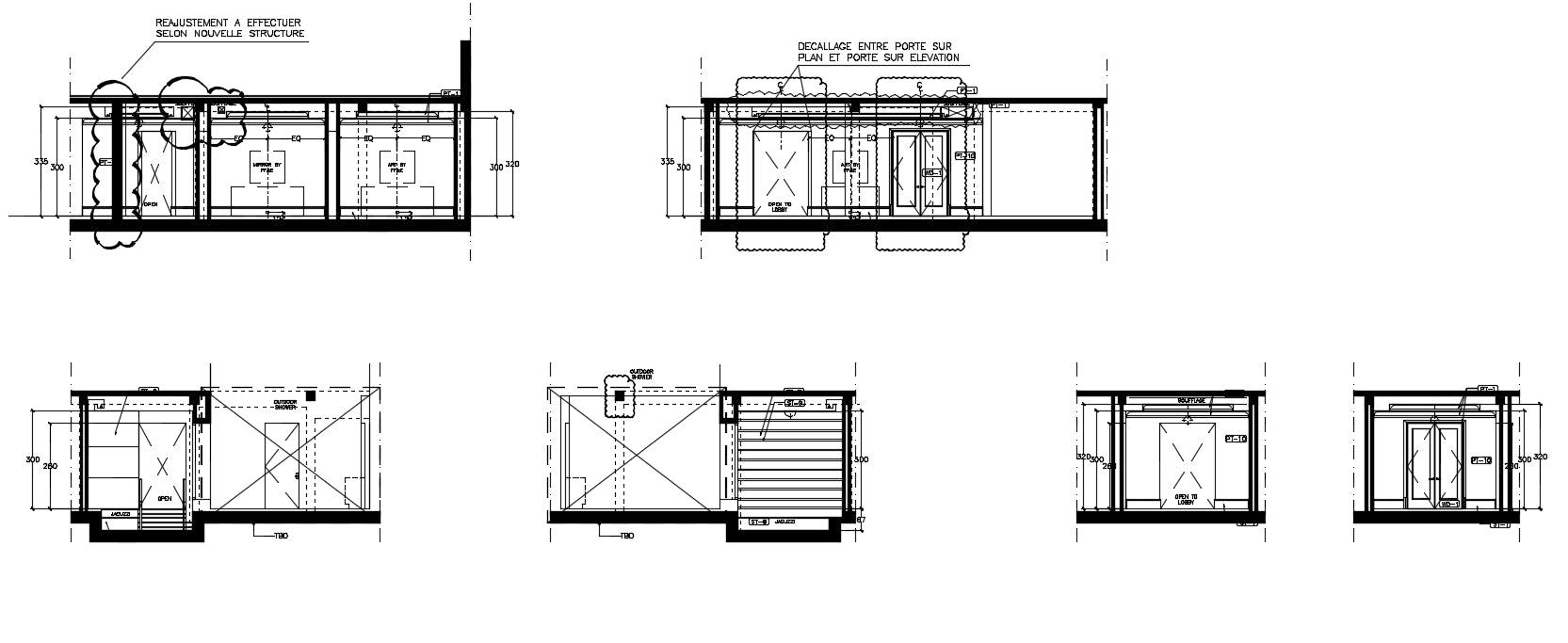 House drawing room interiors detail and design in cad