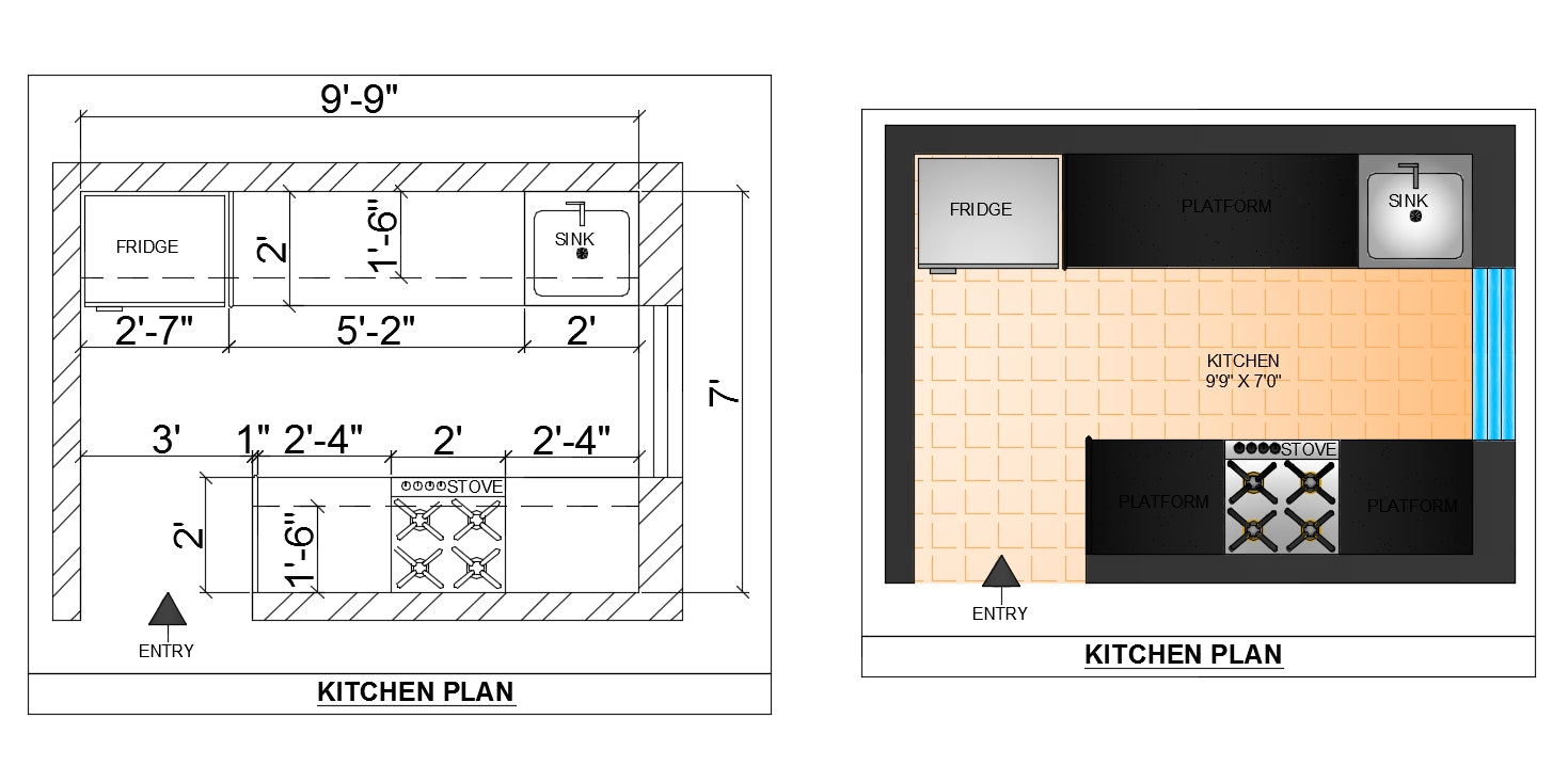 Kitchen design and detail