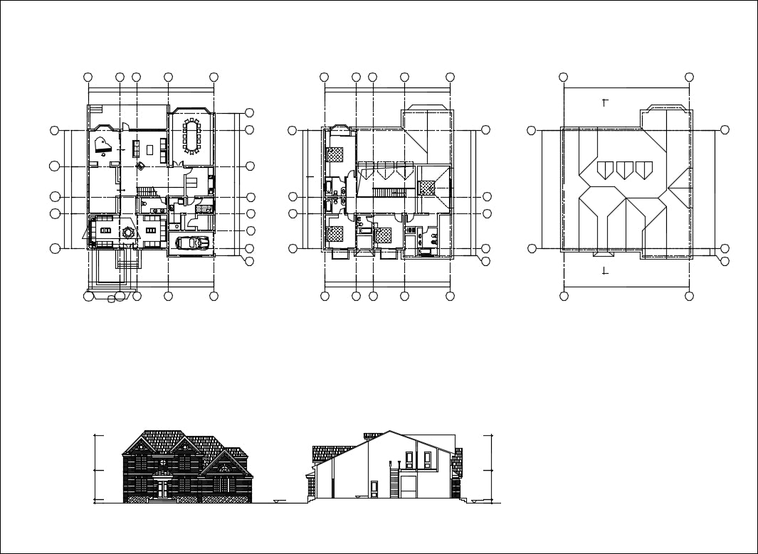 Villa Design CAD Drawings V15