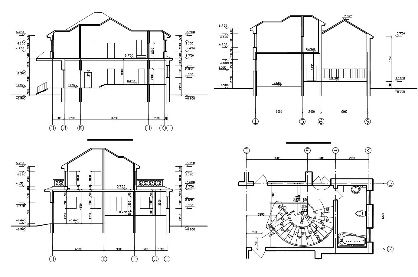 Villa Design CAD Drawings V4