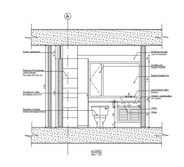 Bathroom interiors design and detail in autocad dwg files