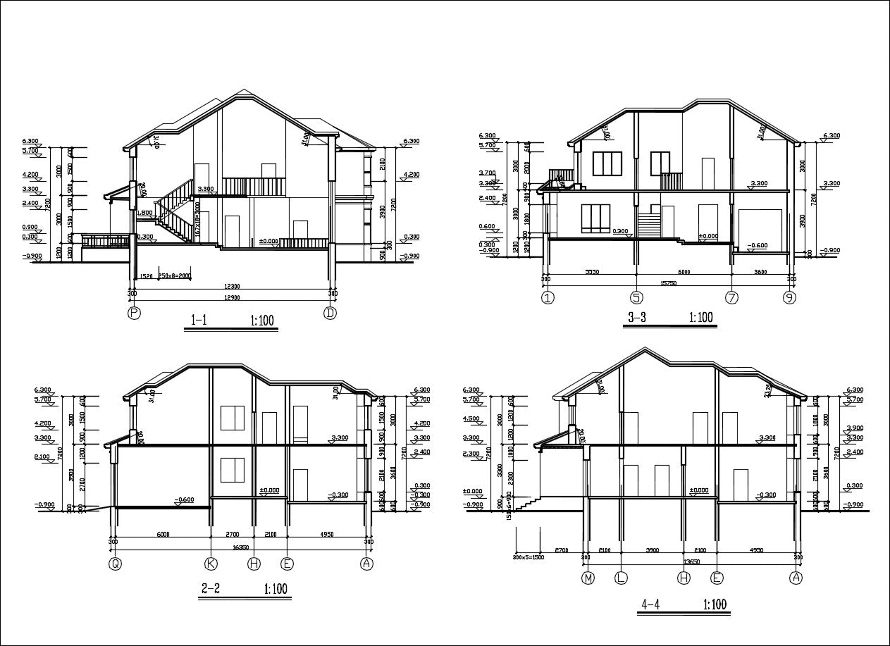 Villa Design CAD Drawings V7