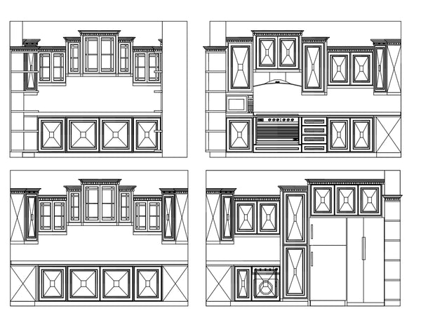 Kitchen Elevation Design - CAD Design | Download CAD Drawings | AutoCAD Blocks | AutoCAD Symbols | CAD Drawings | Architecture Details│Landscape Details | See more about AutoCAD, Cad Drawing and Architecture Details