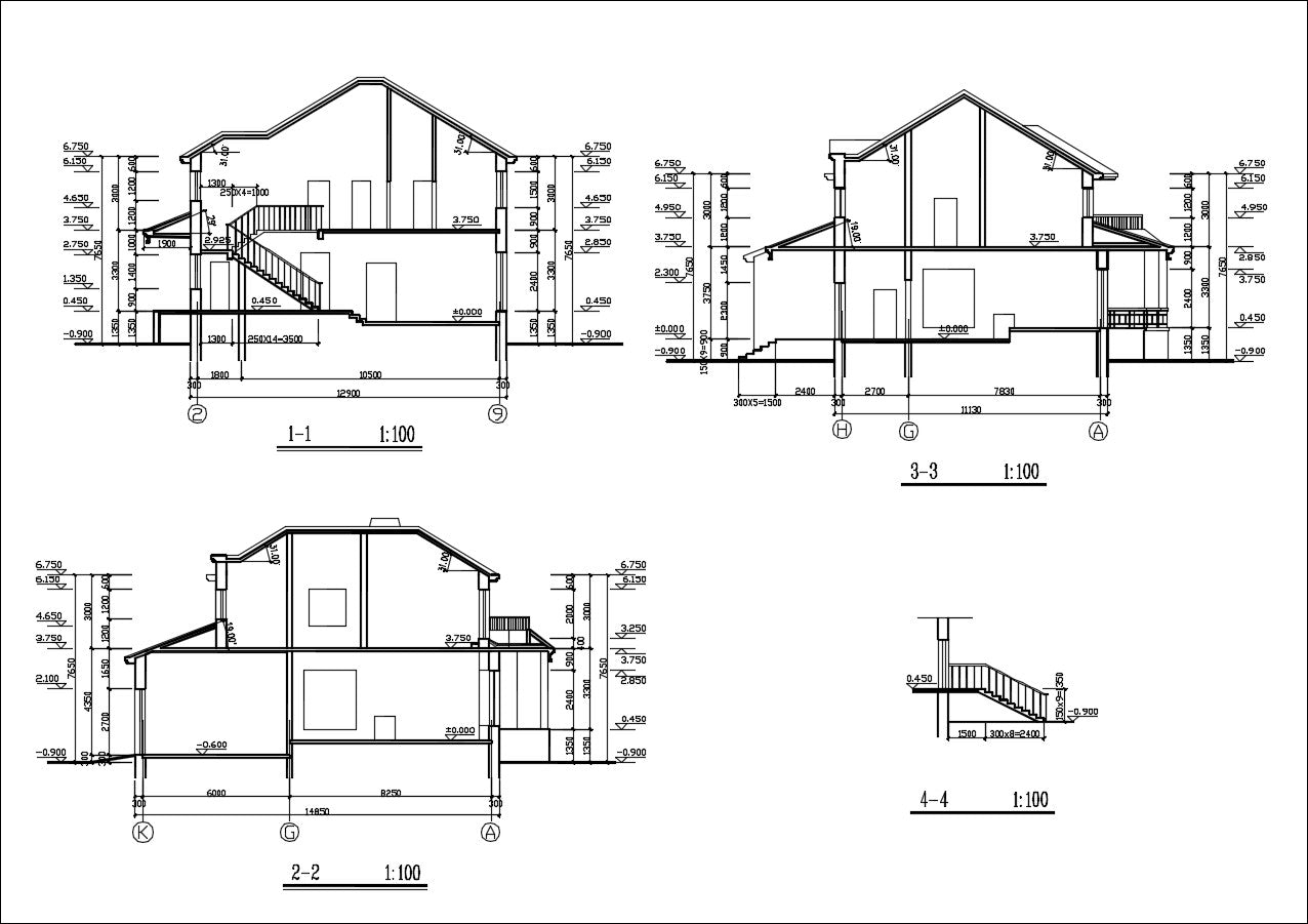 Villa Design CAD Drawings V6