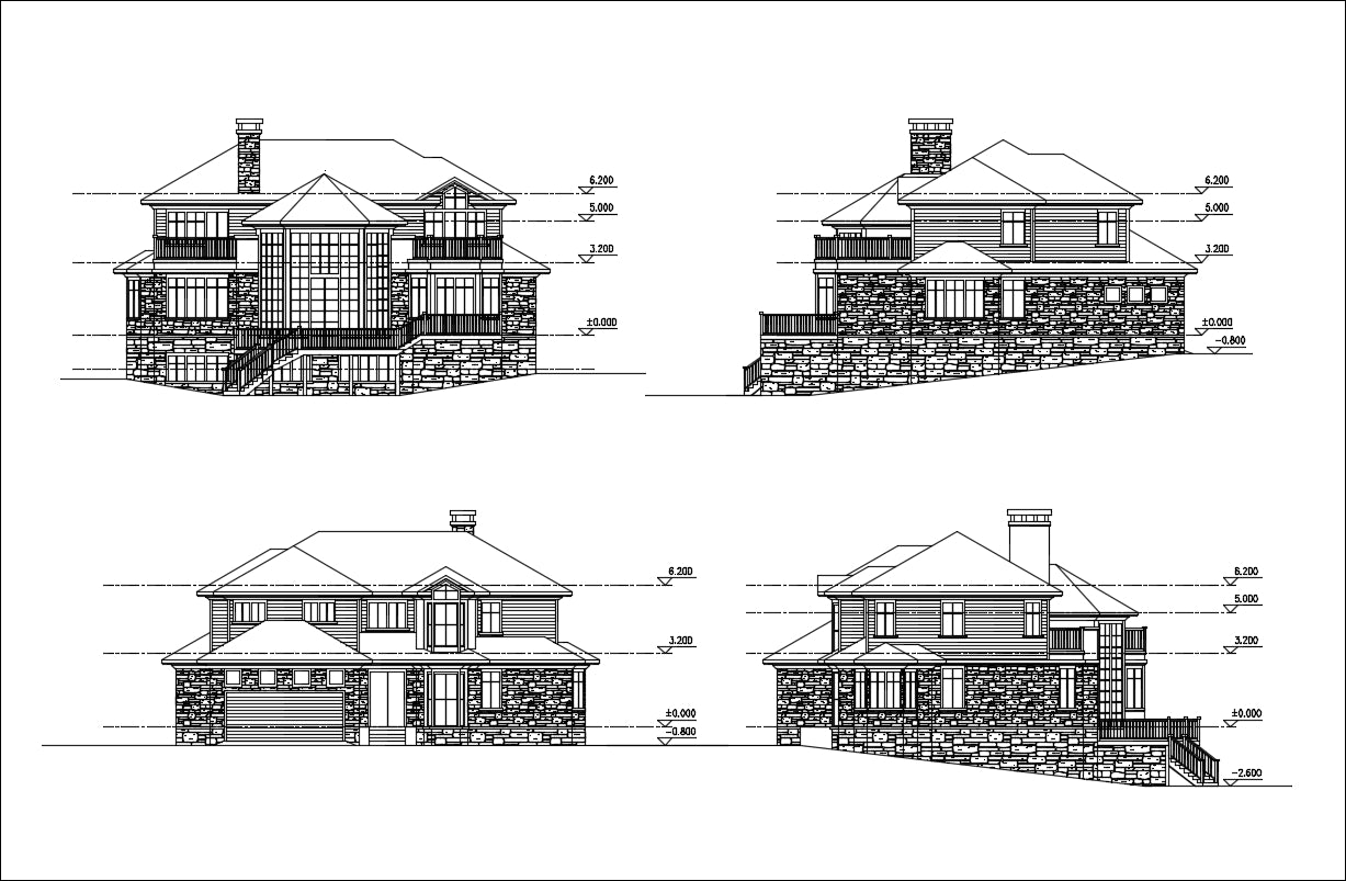 Villa Design CAD Drawings V18