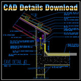 Ridge Eave & Parapet Details - CAD Design | Download CAD Drawings | AutoCAD Blocks | AutoCAD Symbols | CAD Drawings | Architecture Details│Landscape Details | See more about AutoCAD, Cad Drawing and Architecture Details