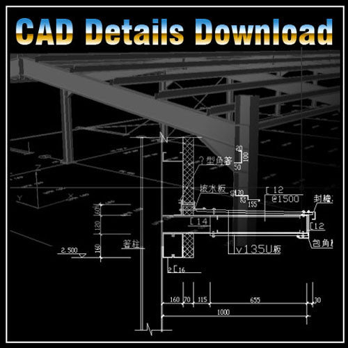 Steel Structure Details 2 - CAD Design | Download CAD Drawings | AutoCAD Blocks | AutoCAD Symbols | CAD Drawings | Architecture Details│Landscape Details | See more about AutoCAD, Cad Drawing and Architecture Details