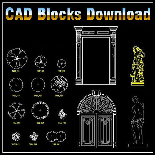Landscape 2D Blocks - CAD Design | Download CAD Drawings | AutoCAD Blocks | AutoCAD Symbols | CAD Drawings | Architecture Details│Landscape Details | See more about AutoCAD, Cad Drawing and Architecture Details