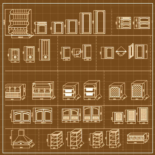 System Cabinets Cad V.1 - CAD Design | Free CAD blocks and drawings