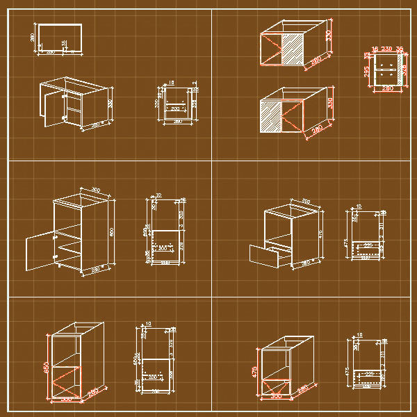 Cabinets Cad - CAD Design | Download CAD Drawings | AutoCAD Blocks | AutoCAD Symbols | CAD Drawings | Architecture Details│Landscape Details | See more about AutoCAD, Cad Drawing and Architecture Details