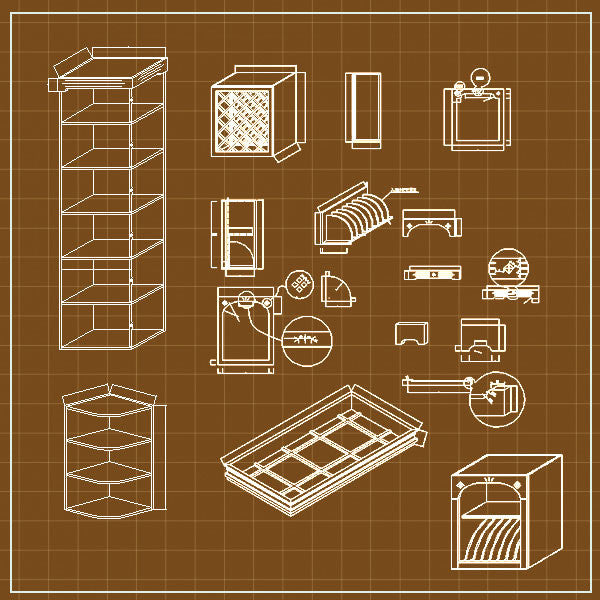 Cabinets Cad 3D - CAD Design | Free CAD blocks and drawings