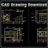 Study Room Design Drawings V.1 - CAD Design | Free CAD blocks and drawings