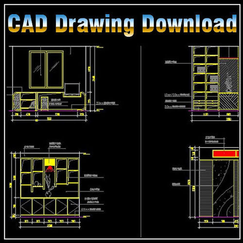 Study Room Design Drawings V.2 - CAD Design | Download CAD Drawings | AutoCAD Blocks | AutoCAD Symbols | CAD Drawings | Architecture Details│Landscape Details | See more about AutoCAD, Cad Drawing and Architecture Details