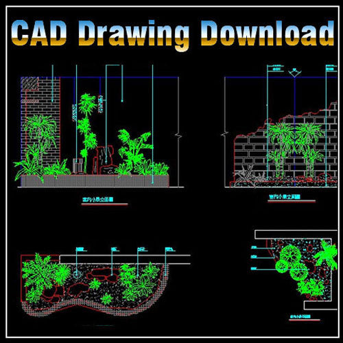 autocad landscape cad blocks drawings garden plan architecture drawing library interior dwg boss888 symbols 3d 2d plans elevation sketchup template