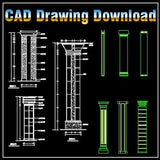 Column Design Drawing - CAD Design | Download CAD Drawings | AutoCAD Blocks | AutoCAD Symbols | CAD Drawings | Architecture Details│Landscape Details | See more about AutoCAD, Cad Drawing and Architecture Details