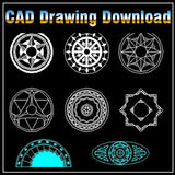Mosaic Design Drawing - CAD Design | Download CAD Drawings | AutoCAD Blocks | AutoCAD Symbols | CAD Drawings | Architecture Details│Landscape Details | See more about AutoCAD, Cad Drawing and Architecture Details