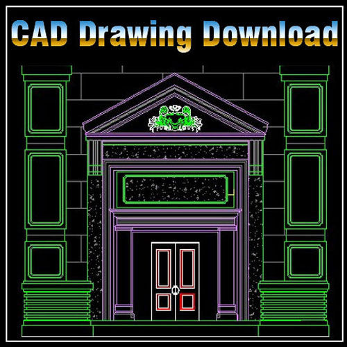 Architecture Decoration Drawing 1 - CAD Design | Download CAD Drawings | AutoCAD Blocks | AutoCAD Symbols | CAD Drawings | Architecture Details│Landscape Details | See more about AutoCAD, Cad Drawing and Architecture Details
