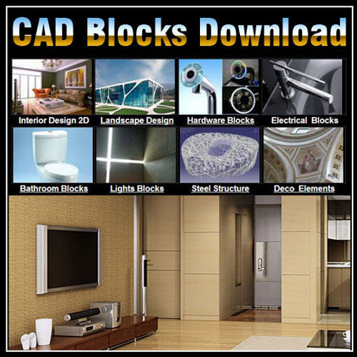 Interior Design 2D Blocks bundle