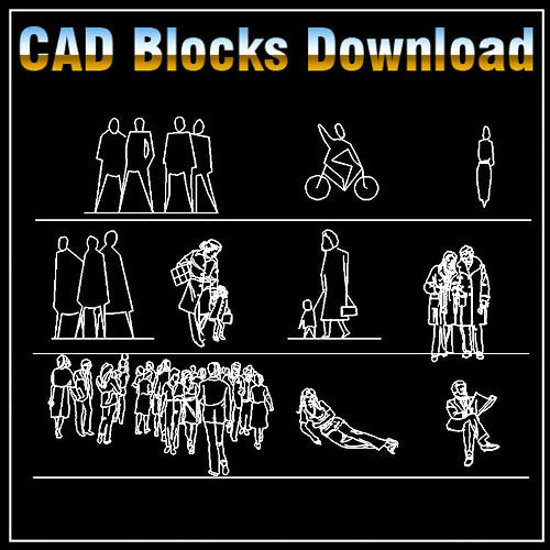 Free People Blocks - CAD Design | Download CAD Drawings | AutoCAD Blocks | AutoCAD Symbols | CAD Drawings | Architecture Details│Landscape Details | See more about AutoCAD, Cad Drawing and Architecture Details