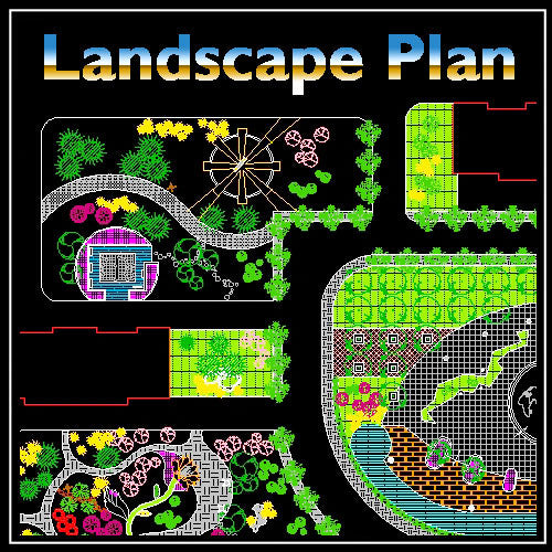 Residential Landscape Design 5 - CAD Design | Download CAD Drawings | AutoCAD Blocks | AutoCAD Symbols | CAD Drawings | Architecture Details│Landscape Details | See more about AutoCAD, Cad Drawing and Architecture Details