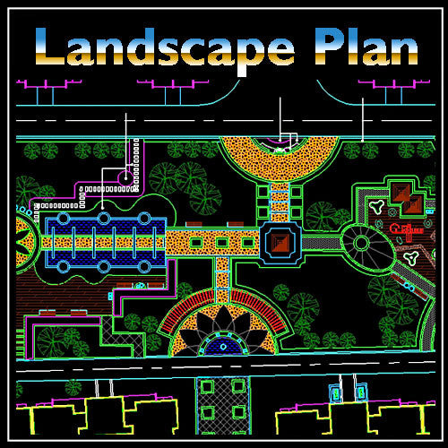 Residential Landscape Design 9 - CAD Design | Download CAD Drawings | AutoCAD Blocks | AutoCAD Symbols | CAD Drawings | Architecture Details│Landscape Details | See more about AutoCAD, Cad Drawing and Architecture Details