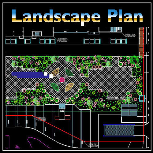 Residential Landscape Design 15 - CAD Design | Download CAD Drawings | AutoCAD Blocks | AutoCAD Symbols | CAD Drawings | Architecture Details│Landscape Details | See more about AutoCAD, Cad Drawing and Architecture Details
