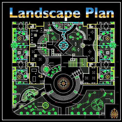 Residential Landscape Design 17 - CAD Design | Download CAD Drawings | AutoCAD Blocks | AutoCAD Symbols | CAD Drawings | Architecture Details│Landscape Details | See more about AutoCAD, Cad Drawing and Architecture Details