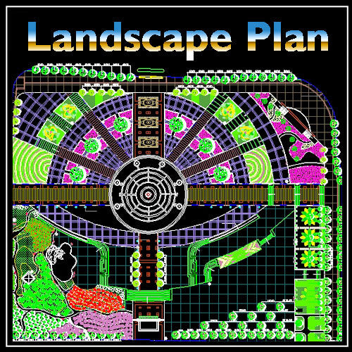 Residential Landscape Design 18 - CAD Design | Download CAD Drawings | AutoCAD Blocks | AutoCAD Symbols | CAD Drawings | Architecture Details│Landscape Details | See more about AutoCAD, Cad Drawing and Architecture Details