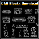 Decoration Elements Block V1 - CAD Design | Free CAD blocks and drawings