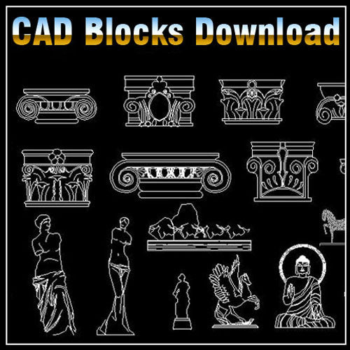 Decoration Elements Block V1 - CAD Design | Download CAD Drawings | AutoCAD Blocks | AutoCAD Symbols | CAD Drawings | Architecture Details│Landscape Details | See more about AutoCAD, Cad Drawing and Architecture Details