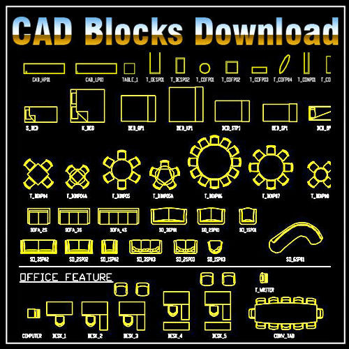 Free Furniture Blocks - CAD Design | Download CAD Drawings | AutoCAD Blocks | AutoCAD Symbols | CAD Drawings | Architecture Details│Landscape Details | See more about AutoCAD, Cad Drawing and Architecture Details