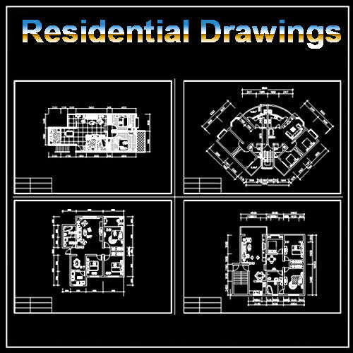 Residential Construction Drawings Bundle - CAD Design | Download CAD Drawings | AutoCAD Blocks | AutoCAD Symbols | CAD Drawings | Architecture Details│Landscape Details | See more about AutoCAD, Cad Drawing and Architecture Details