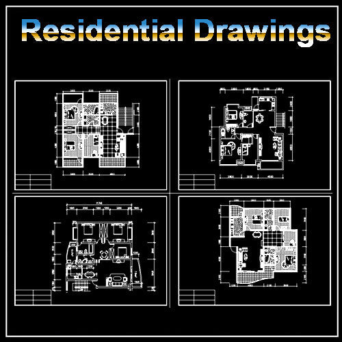 Residential Construction Drawings Bundle 2 - CAD Design | Download CAD Drawings | AutoCAD Blocks | AutoCAD Symbols | CAD Drawings | Architecture Details│Landscape Details | See more about AutoCAD, Cad Drawing and Architecture Details