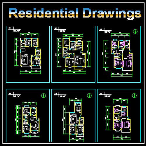 Residential Plans Collection - CAD Design | Free CAD blocks and drawings