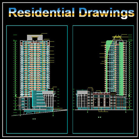 Cad design free cad blocks and drawings cad design for Residential construction drawings