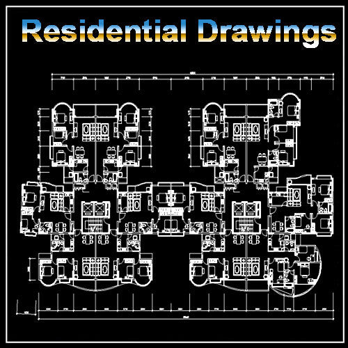Residential layout plans - CAD Design | Download CAD Drawings | AutoCAD Blocks | AutoCAD Symbols | CAD Drawings | Architecture Details│Landscape Details | See more about AutoCAD, Cad Drawing and Architecture Details
