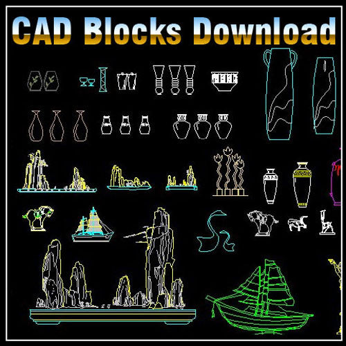Decoration Elements Block V2 - CAD Design | Download CAD Drawings | AutoCAD Blocks | AutoCAD Symbols | CAD Drawings | Architecture Details│Landscape Details | See more about AutoCAD, Cad Drawing and Architecture Details