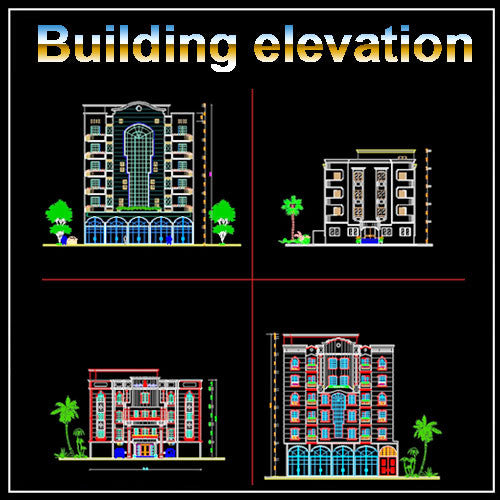 Building Elevation 5 - CAD Design | Download CAD Drawings | AutoCAD Blocks | AutoCAD Symbols | CAD Drawings | Architecture Details│Landscape Details | See more about AutoCAD, Cad Drawing and Architecture Details