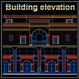 Building Elevation 6 - CAD Design | Download CAD Drawings | AutoCAD Blocks | AutoCAD Symbols | CAD Drawings | Architecture Details│Landscape Details | See more about AutoCAD, Cad Drawing and Architecture Details