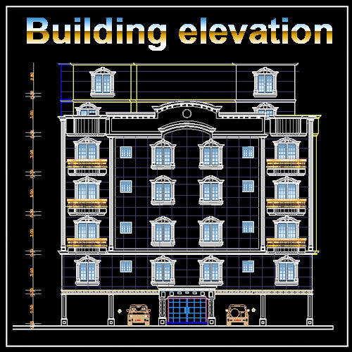 Building Elevation 10 - CAD Design | Download CAD Drawings | AutoCAD Blocks | AutoCAD Symbols | CAD Drawings | Architecture Details│Landscape Details | See more about AutoCAD, Cad Drawing and Architecture Details
