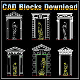 European Architecture elements Blocks - CAD Design | Download CAD Drawings | AutoCAD Blocks | AutoCAD Symbols | CAD Drawings | Architecture Details│Landscape Details | See more about AutoCAD, Cad Drawing and Architecture Details
