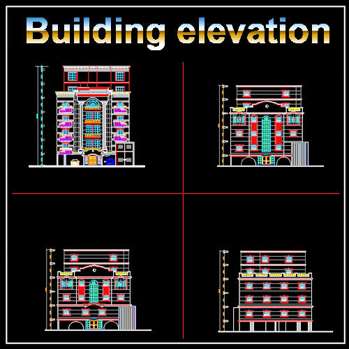 Building Elevation 12 - CAD Design | Download CAD Drawings | AutoCAD Blocks | AutoCAD Symbols | CAD Drawings | Architecture Details│Landscape Details | See more about AutoCAD, Cad Drawing and Architecture Details