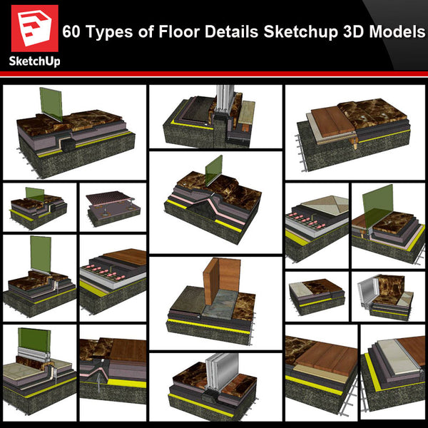 💎【Best 60 Types of Floor Details Sketchup 3D Detail Models】Sketchup Floor Details - CAD Design | Download CAD Drawings | AutoCAD Blocks | AutoCAD Symbols | CAD Drawings | Architecture Details│Landscape Details | See more about AutoCAD, Cad Drawing and Architecture Details