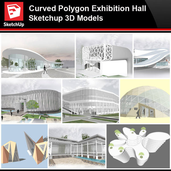 💎【Sketchup Architecture 3D Projects】Curve Polygon Gallery ,Art Museum Sketchup 3D Models - CAD Design | Download CAD Drawings | AutoCAD Blocks | AutoCAD Symbols | CAD Drawings | Architecture Details│Landscape Details | See more about AutoCAD, Cad Drawing and Architecture Details