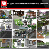 💎【Sketchup Architecture 3D Projects】12 Types of Chinese Garden Sketchup 3D Models - CAD Design | Download CAD Drawings | AutoCAD Blocks | AutoCAD Symbols | CAD Drawings | Architecture Details│Landscape Details | See more about AutoCAD, Cad Drawing and Architecture Details