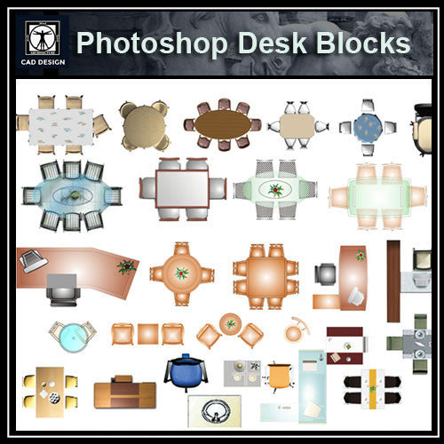Photoshop PSD Desk Blocks 1