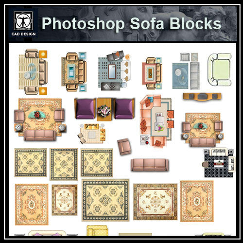Photoshop PSD Sofa Blocks