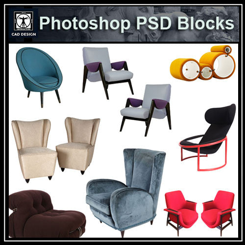 Photoshop PSD Sofa and Chair Blocks V1