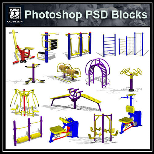 Photoshop PSD Children's Play Equipment 1 - CAD Design | Download CAD Drawings | AutoCAD Blocks | AutoCAD Symbols | CAD Drawings | Architecture Details│Landscape Details | See more about AutoCAD, Cad Drawing and Architecture Details