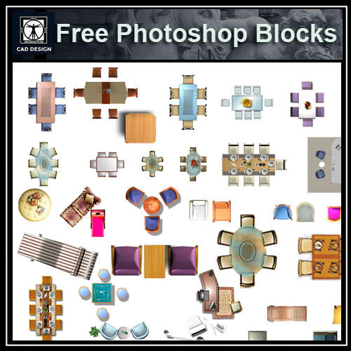 Free Photoshop PSD Chinese Furniture Blocks 2